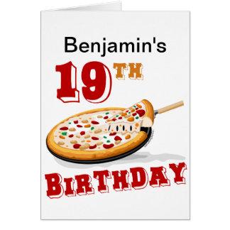 19. Geburtstags-Pizza-Party Karte