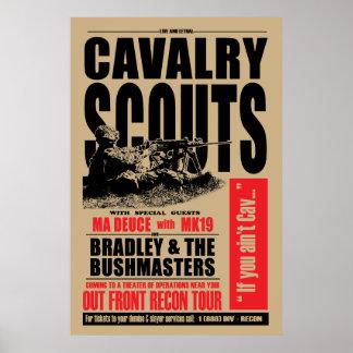19D Cav Pfadfinder, Konzertartplakat Poster
