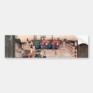 1. 日本橋, 広重 Nihonbashi, Hiroshige, Ukiyo-e Autoaufkleber