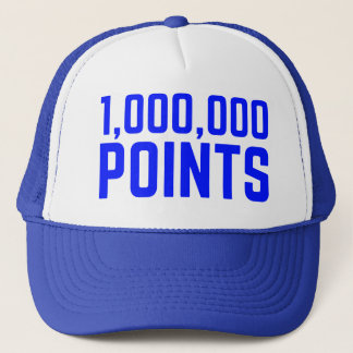 1.000.000 PUNKTE Spaßsloganfernlastfahrer-Hut Truckerkappe