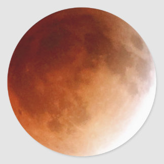 1:08 morgens der Mondeklipse (15) am 15. April Runder Aufkleber