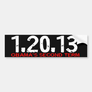 1.20.13 Obamas an zweiter Stelle Autoaufkleber