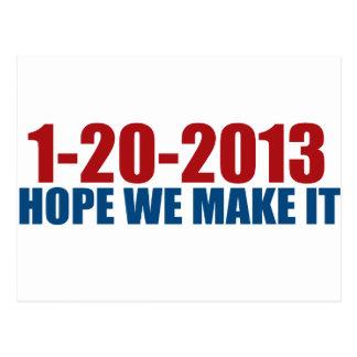 1-20-2013 Hoffnung machen wir sie Postkarte