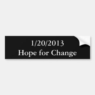 1/20/2013Hope für Änderung Autoaufkleber