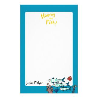 1, 2, 3 Fisch mit kleinen Fischen und Koralle Briefpapier