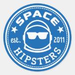 "1,5"" Raum-Hipster-Logo-Aufkleber Runder Aufkleber"