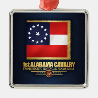 1. Alabama-Kavallerie Silbernes Ornament