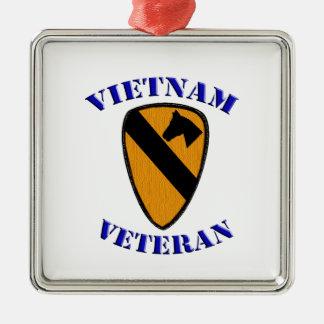 1. Cav Vietnam Veteran Silbernes Ornament