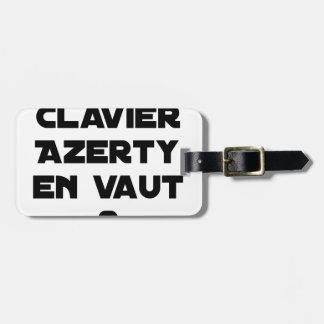 1 CLAVIER AZERTY DAVON VALUE 2 - Wortspiele Kofferanhänger