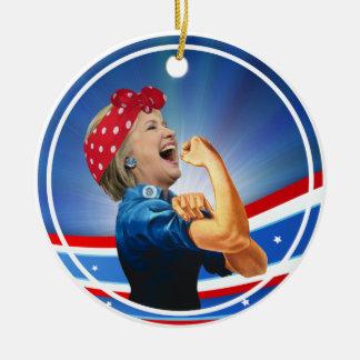 1. Frauen-Präsidentenkandidat Hillary Clintons Keramik Ornament
