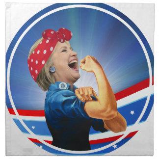 1. Frauen-Präsidentenkandidat Hillary Clintons Stoffserviette