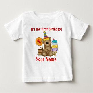 1. Geburtstags-Bär Baby T-shirt