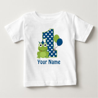 1. Geburtstags-Frosch-personalisiertes Shirt