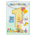 1. Geburtstags-Gruß-Karte, glücklicher erster Karte