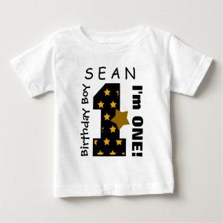 1. Geburtstags-Junge hat einen Jahr-individuellen Baby T-shirt