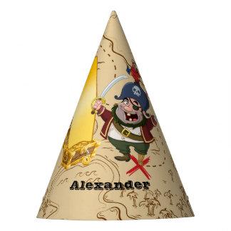 1. Geburtstags-Piraten-Schatz-Karte Partyhütchen