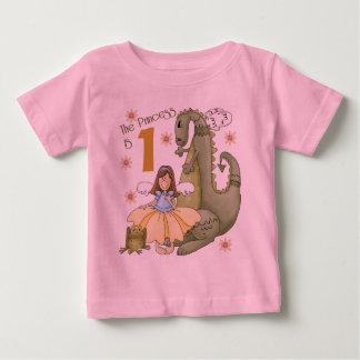 1. Geburtstags-Prinzessin Baby T-shirt