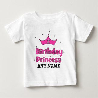 1. Geburtstags-Prinzessin!  mit rosa Krone Baby T-shirt