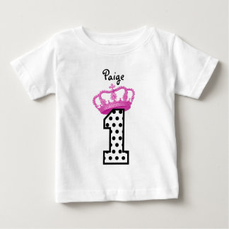 1. Geburtstags-Prinzessin Tupfen 2 Baby T-shirt