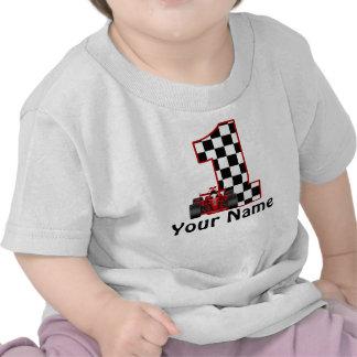 1 Geburtstags-Rennen-Auto-personalisiertes Hemd