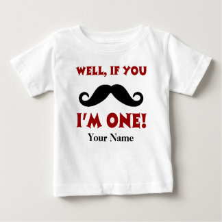 1. Geburtstags-Schnurrbart-personalisierter T - Baby T-shirt