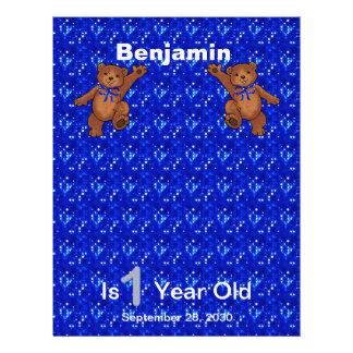 1. Geburtstags-Tanzen-Bärn-Einklebebuch-Papier 1 21,6 X 27,9 Cm Flyer