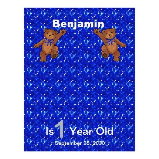 1. Geburtstags-Tanzen-Bärn-Einklebebuch-Papier 1 Flyerdruck