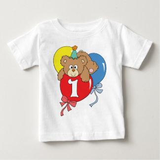 1. Geburtstags-Teddybär (2) Baby T-shirt