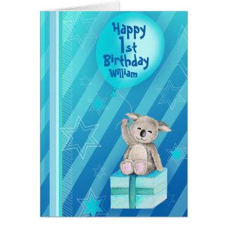 1. Geburtstagskarte des Keddy Koalablaus Karte