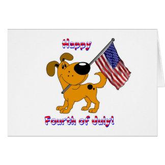 1- Glücklicher amerikanischer Unabhängigkeitstag! Karte