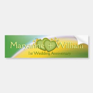 1. Hochzeits-Jahrestags-Party-Dekoration Autoaufkleber