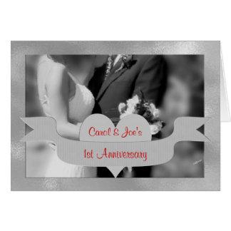 1. Hochzeitstag-Glückwunsch-Karte Karte
