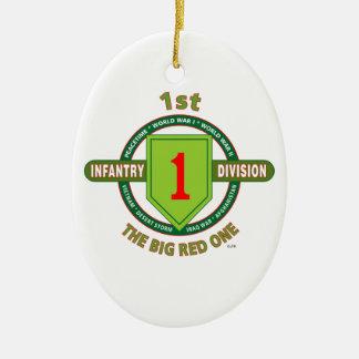 "1. INFANTERIEDIVISION ""das GROSSE ROT EINS "" Keramik Ornament"