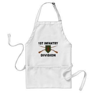 1. Infanteriedivision - gekreuzte Gewehre - mit Schürze