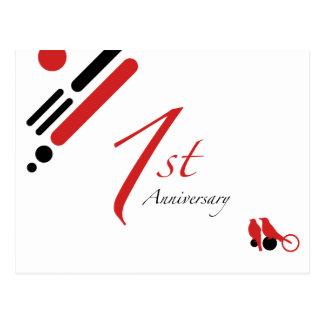 1. Jahrestag (Modvögel) Postkarte