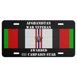 1 KAMPAGNEN-STERN-AFGHANISTAN-KRIEGSVETERAN US NUMMERNSCHILD
