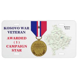 1 KAMPAGNEN-STERN-KOSOVO-KRIEGSVETERAN US NUMMERNSCHILD