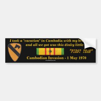 1. Kavallerie-Abteilungs-Kambodschaner-Ferien Autoaufkleber