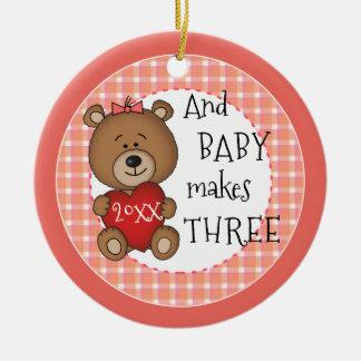 1. Kinderneues Baby-Andenken-Weihnachtsgeschenk Keramik Ornament