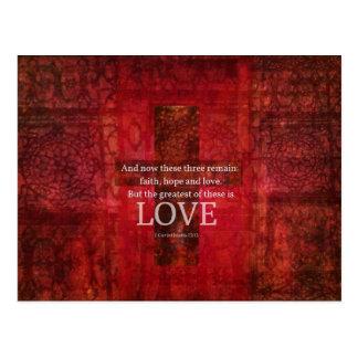 1 Korinther-13:13 BIBEL-VERS ÜBER LIEBE Postkarten
