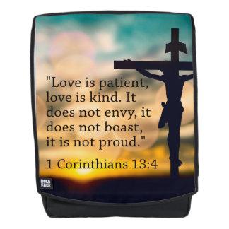 1 Korinther-13:4 - Liebe ist geduldig Rucksack
