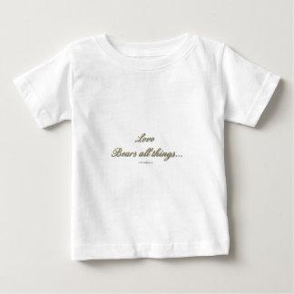 1 Korinther 13 - Liebe trägt alle Sachen Baby T-shirt