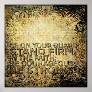 1 Korinther-16:13 Poster