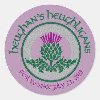 1. Logo des Jahrestags-HH Runder Aufkleber