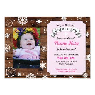 1. Märchenland Onederland Party des Geburtstags-1 12,7 X 17,8 Cm Einladungskarte