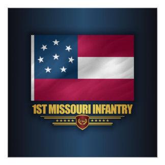 1. Missouri-Infanterie Poster