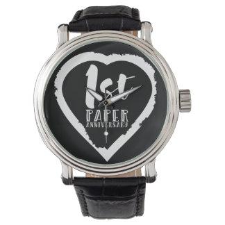 1. PapierHochzeitstagherz Armbanduhr