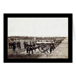 1. Schwere Artillerie Connecticuts am Fort Karte
