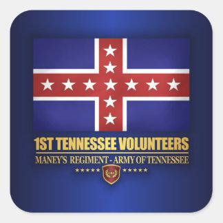 1. Tennessee-Infanterie (F10) Quadratischer Aufkleber