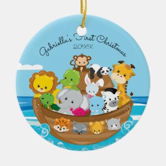 1. Verzierung des niedlichen Noahs Arche-Babys Keramik Ornament